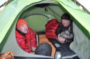 Zelten beim Training für Expeditionen, Chamonix