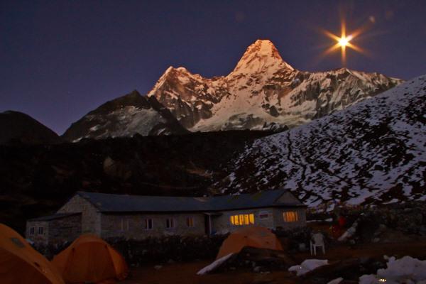 Ama Dablam, Lodge, Himalaya, Moon