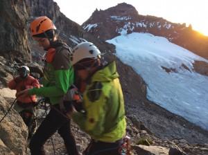Mount Kenya 2013 Xmas 1 Einstieg Normalroute Nelion
