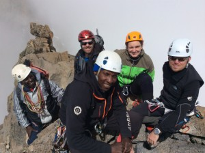 Mount Kenya 2013 Xmas 4 Nelion Summit