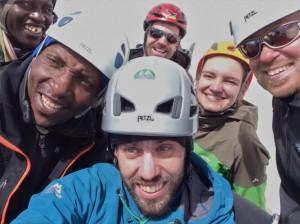 Mount Kenya 2013 Xmas 5 Summit Team
