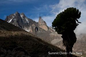 Mount Kenia vom Süden
