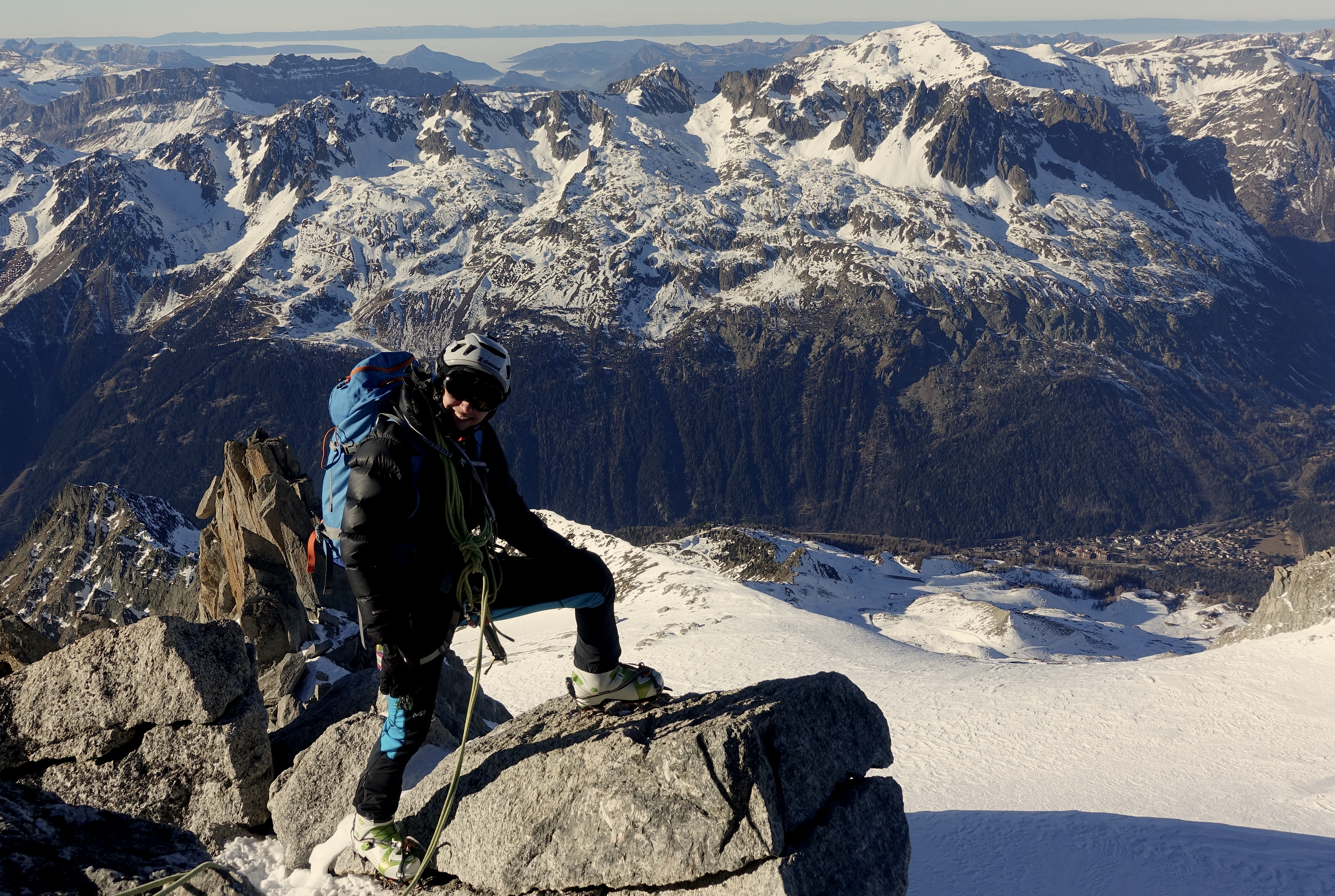 Climbing on Aig. Verte, Chamonix - Mont Blanc, 31.12.2016 (Foto: Felix Berg)