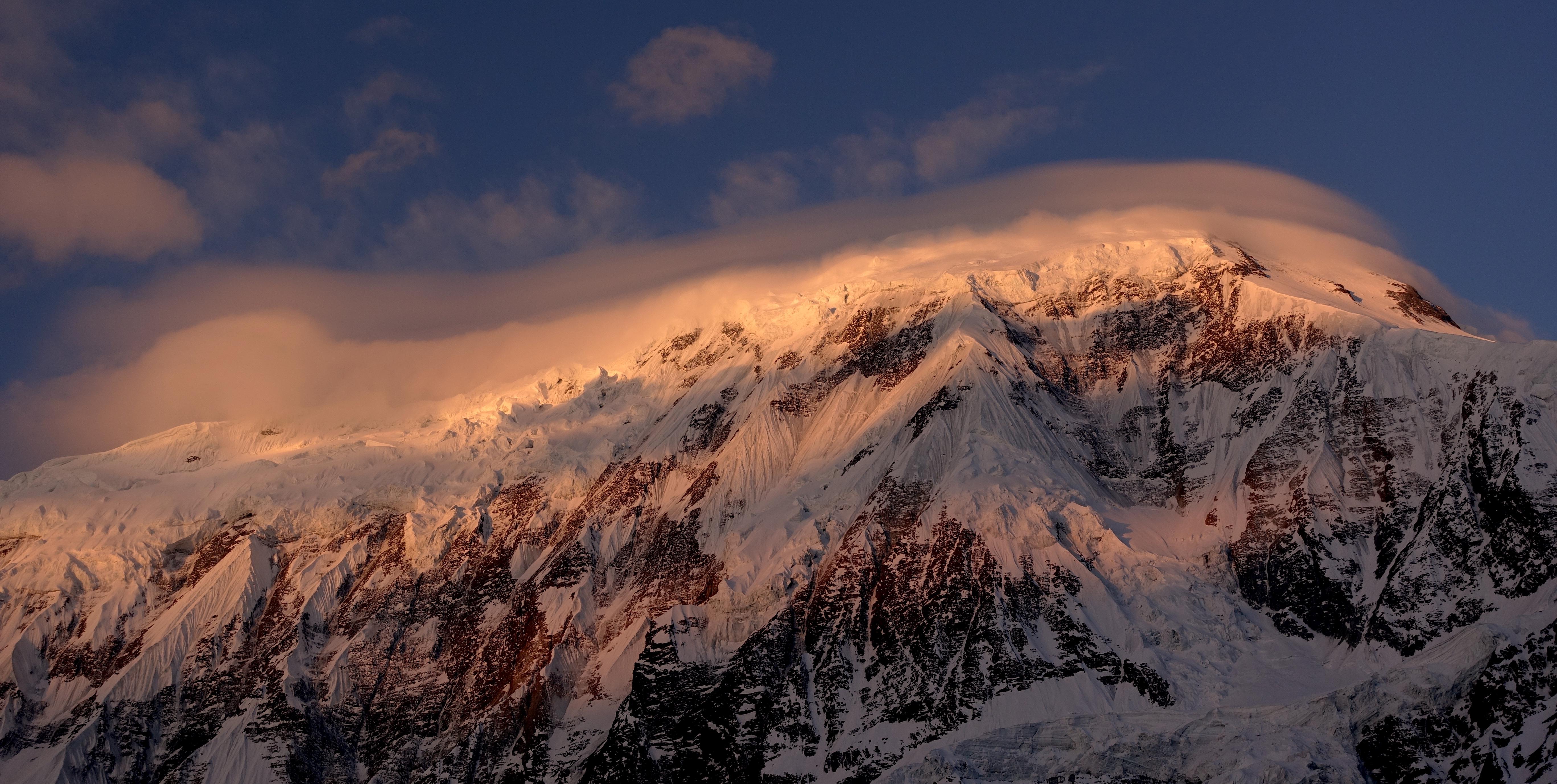 Tilicho im Abendlicht, Nepal (Bild: Felix Berg 2017)