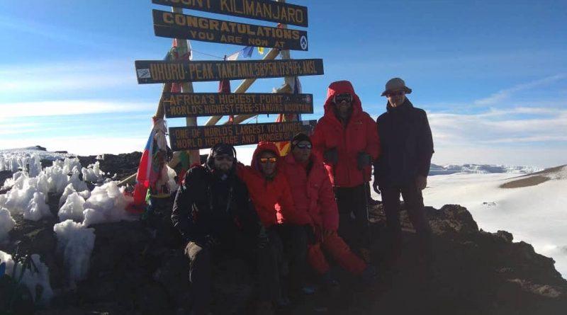 Bergsteiger auf dem Kilimandscharo, August 2018.
