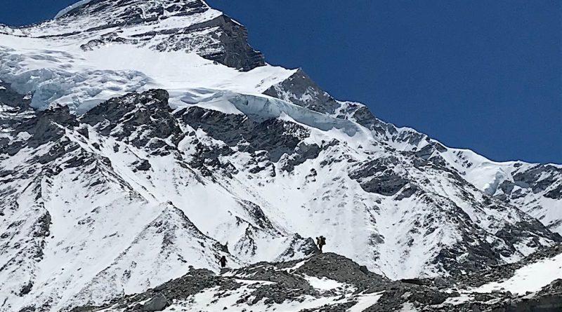 Cho Oyu, Tibet, Nordseite, auf dem Weg zum Camp 1.