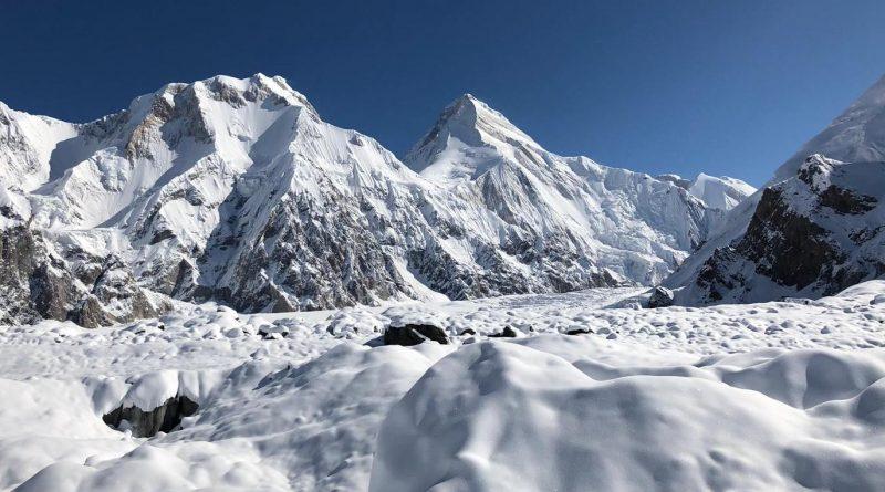 Khan Tengri mountain, snowy glacier