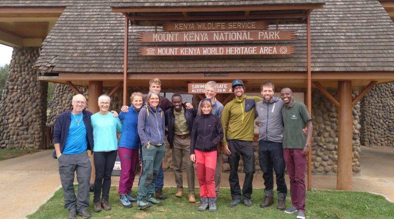 Mount Kenya, Team infront of Sirimon Gate.