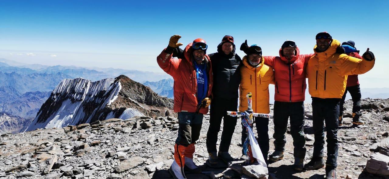 Aconcagua Team auf dem Gipfel