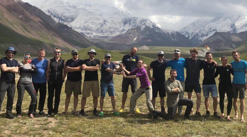 SummitClimb Team at Lenin Peak Basecamp