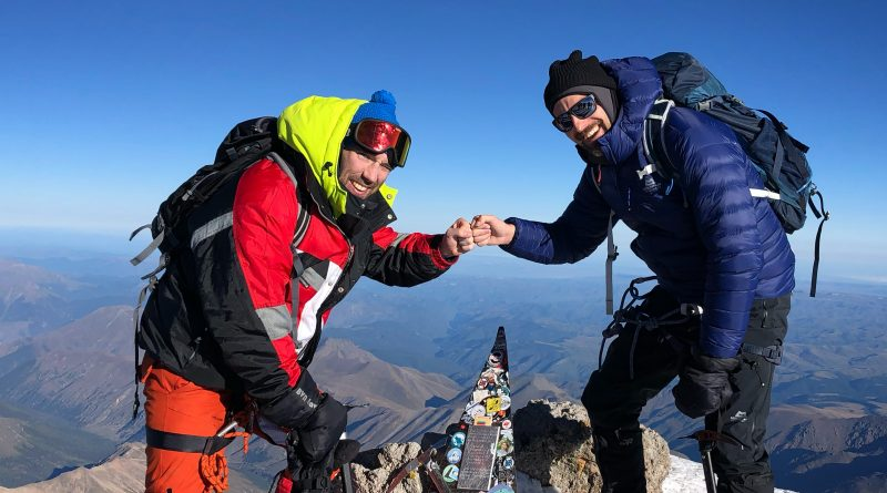 Elbrus Summit, Bergsteiger am Gipfel