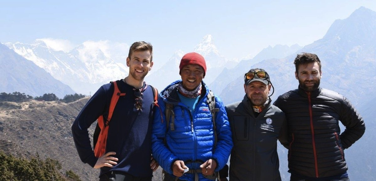 Members at Sangboche above Namche Bazaar (c) John Alexander