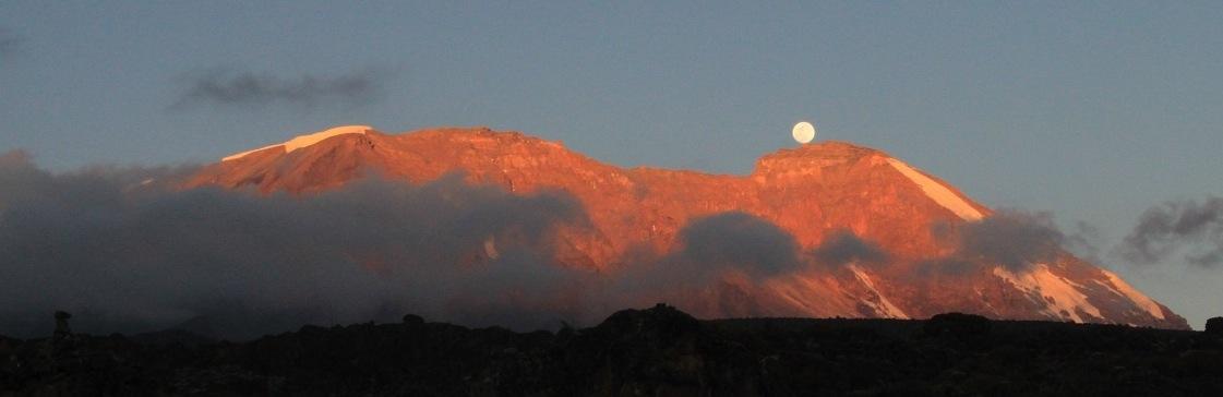 Kilimanjaro Sunset - Westface glow